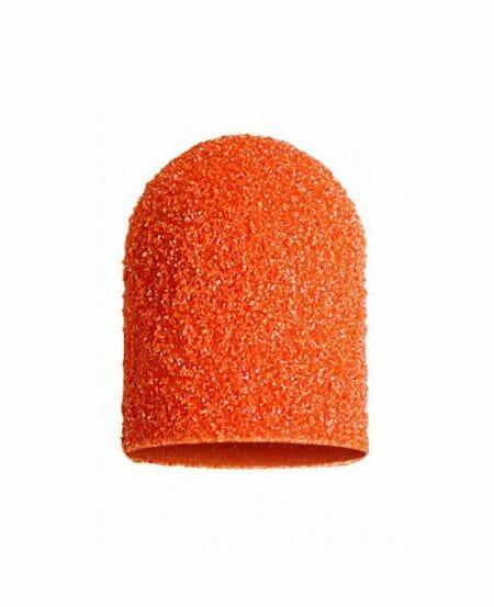 Cappucci Abrasivi Podo LUKAS 13mm - 80 grit grana grossa - 10pz Arancioni