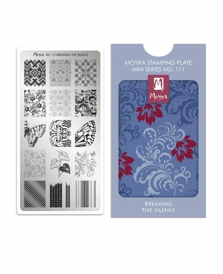 Mini Piastra Stamping Moyra® 111 - Breaking the Silence - 6cm x 12cm