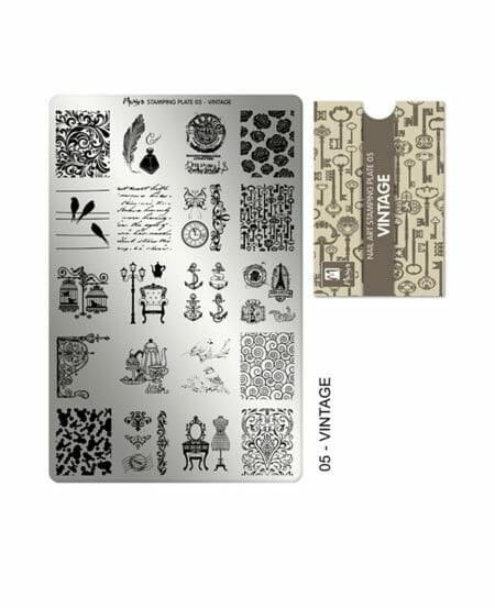 Piastra Stamping Moyra® 05 - Vintage - 9,5cm x 14,5cm