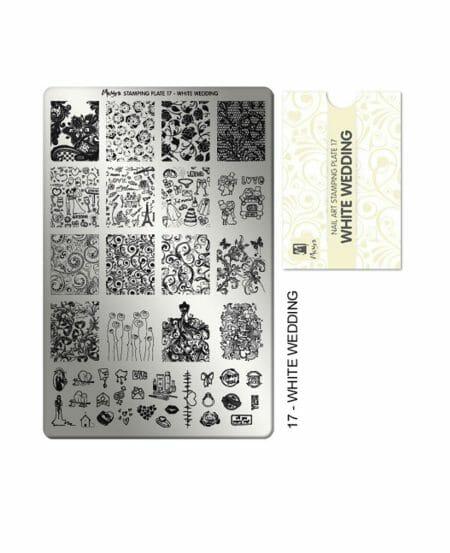 Piastra Stamping Moyra® 17 - White Wedding - 9,5cm x 14,5cm
