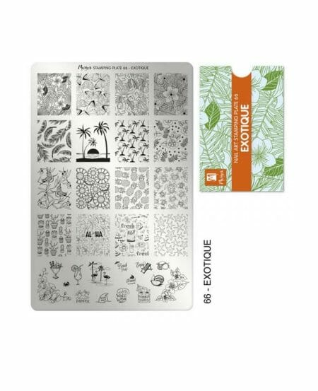 Piastra Stamping Moyra® 66 - Exotique - 9,5cm x 14,5cm