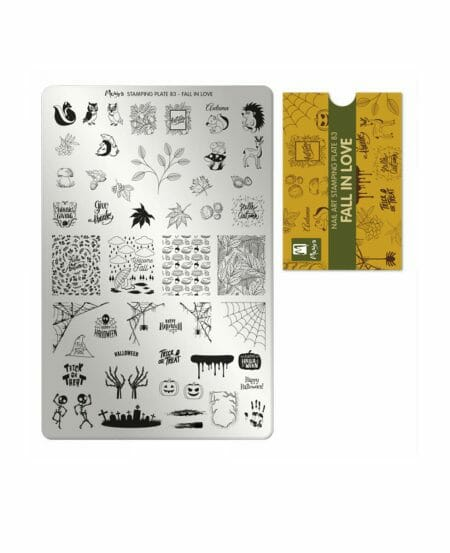 Piastra Stamping Moyra® 83 - Fall in Love - 9,5cm x 14,5cm