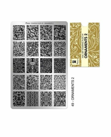 Piastra Stamping Moyra® 49 - Ornaments 2 - 9,5cm x 14,5cm
