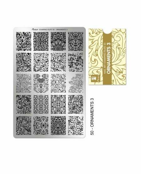 Piastra Stamping Moyra® 50 - Ornaments 3 - 9,5cm x 14,5cm