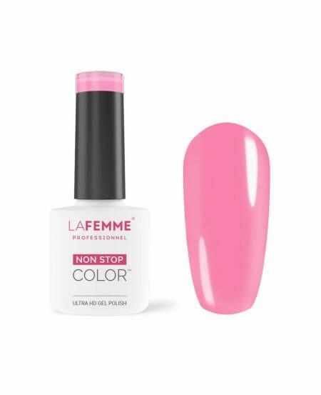 smalto gel rosa acceso coprente H253-La Femme