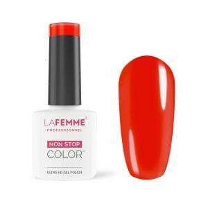 semipermanente unghie rosso aranciato H256