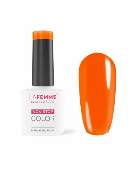 smalto semipermanente arancio coprente unghie la femme H255