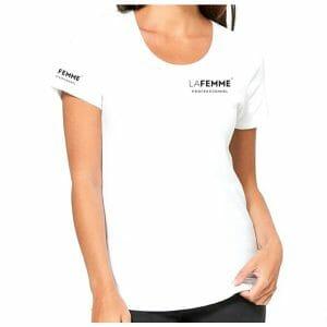 t shirt la femme maglia bianca