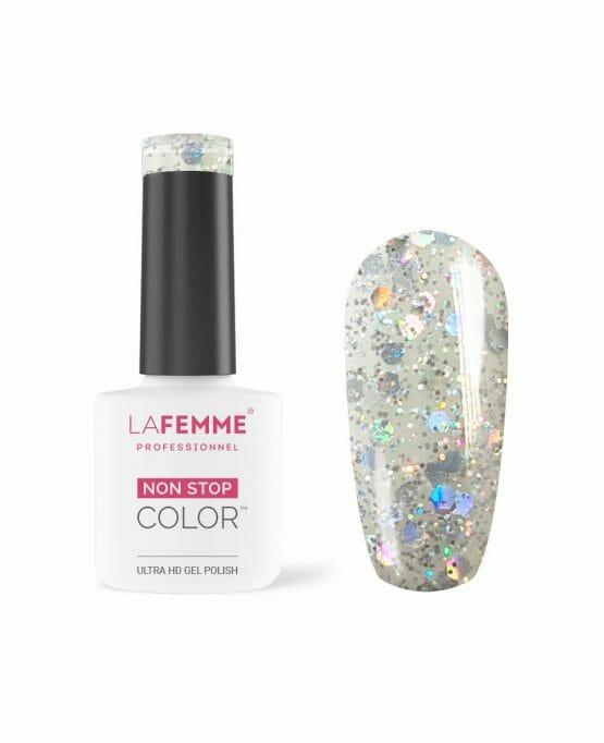 smalto semipermanente Glitter Multicolor trasparente h270