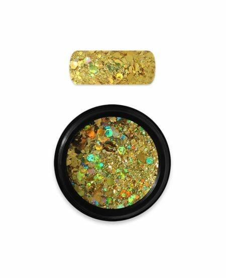 glitter holo dark gold 07