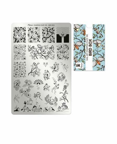 piastra stamping primavera fiori bird box 100