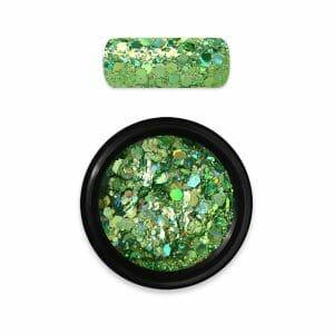 polvere glitter holo moyra verde 08