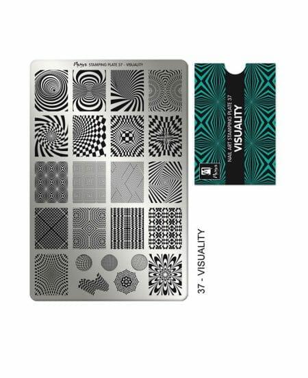 Piastra Stamping Moyra® 37 - Visuality - 9,5cm x 14,5cm