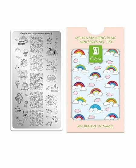 Mini Piastra Stamping Moyra® 120 - We Believe in Magic - 6cm x 12cm