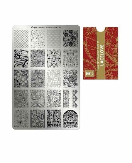 Piastra Stamping Moyra® 15 - Lacelove - 9,5cm x 14,5cm