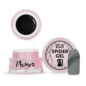 spider gel unghie nero decorazione linee sottili