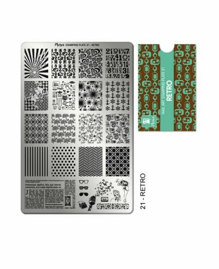 Piastra Stamping Moyra® 21 - Retro - 9,5cm x 14,5cm