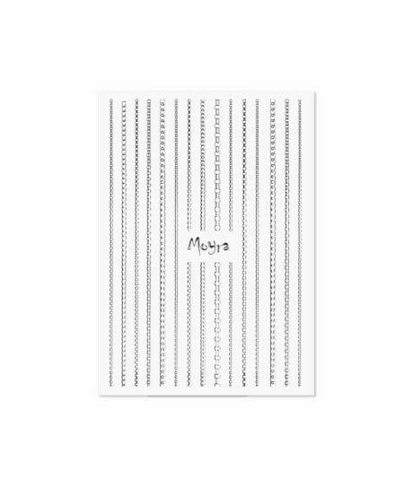 Moyra® Nail Art Strips (strisce adesive) - Catena N.02 SILVER