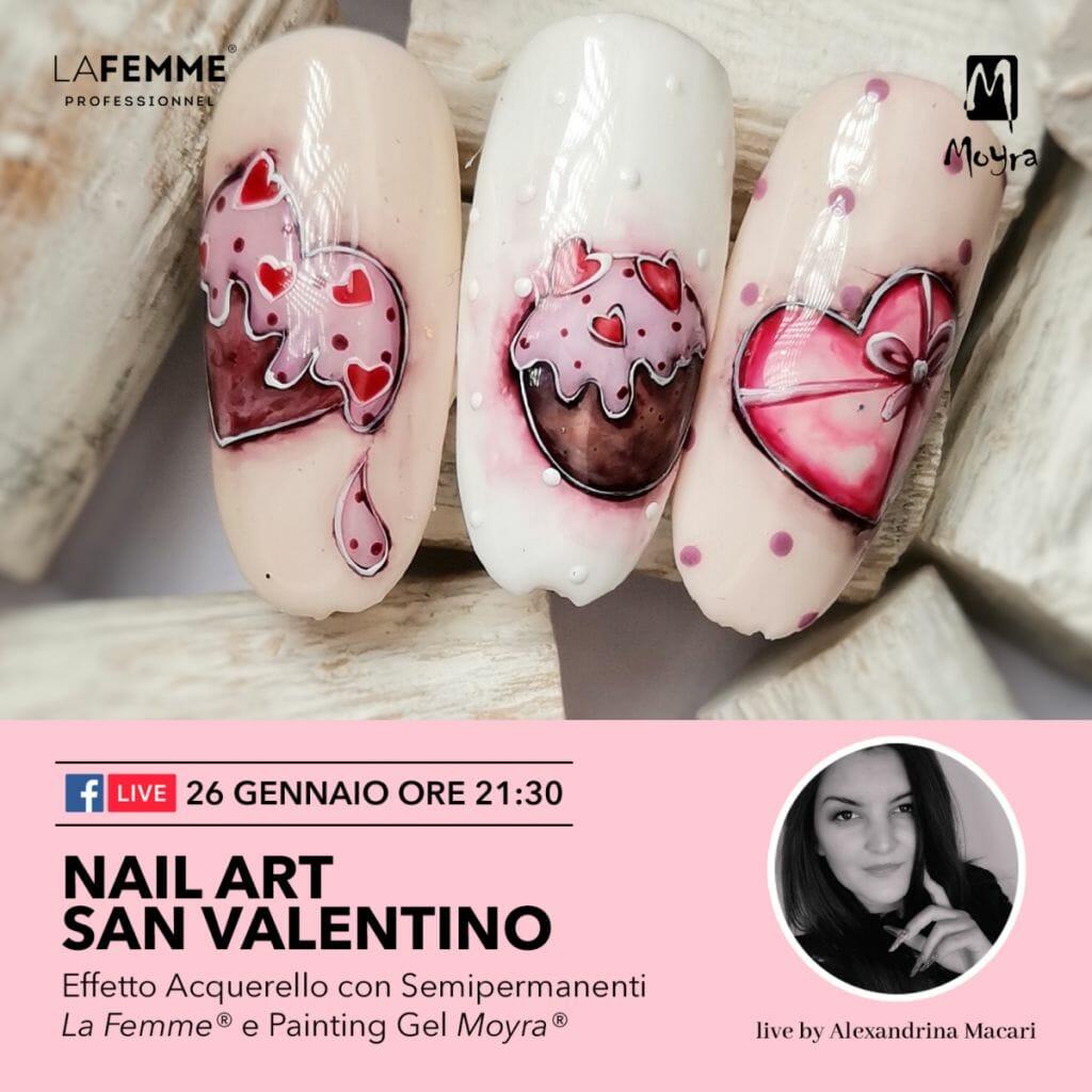 San Valentino La Femme Nail Art