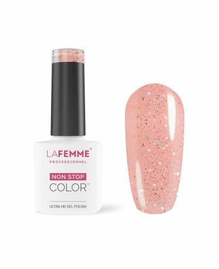 Smalto Semipermanente H272 Rosa Glitter Trasparente