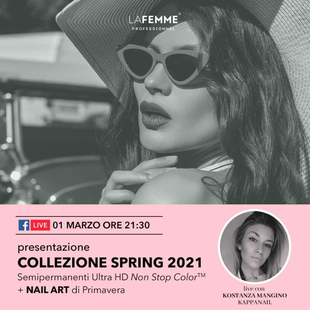 evento live collezione smalto semipermanente primavera 2021