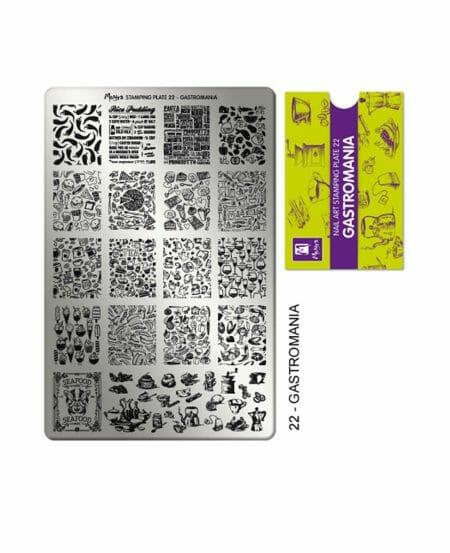 Piastra Stamping Moyra® 22 - Gastromania - 9,5cm x 14,5cm