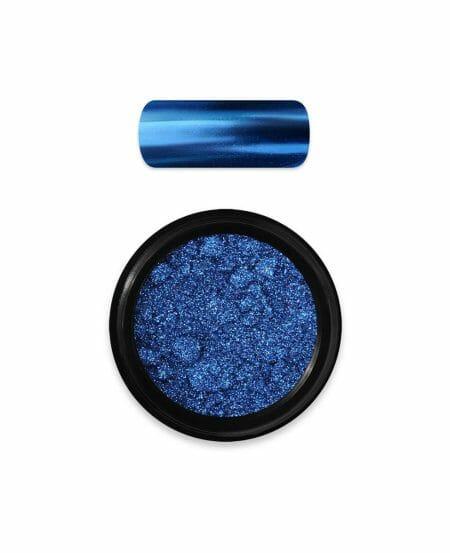Polvere Specchio effetto Cromato Blu Moyra