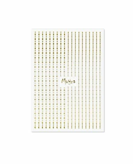 Strisce Adesive Puntino Colore Oro Nail Art