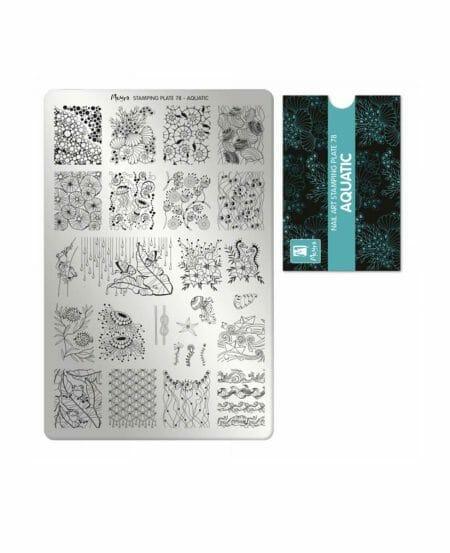 Piastra Stamping Moyra® 78 - Aquatic - 9,5cm x 14,5cm