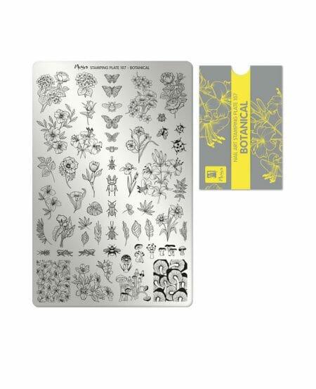 Piastra per Stamping 107 Moyra Botanical