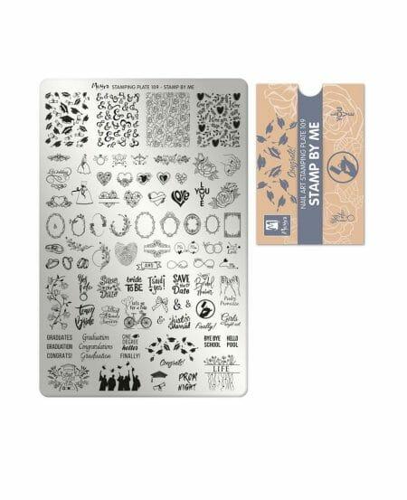 Piastra Stamping Moyra® 109 - Stamp by Me - 9,5cm x 14,5cm