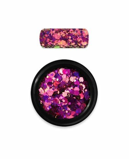 Holo Glitter Mix Moyra Numero 13 Chameleon Pink