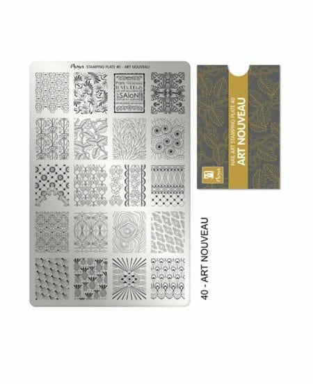 Piastra Stamping Moyra® 40 - Art Nouveau - 9,5cm x 14,5cm