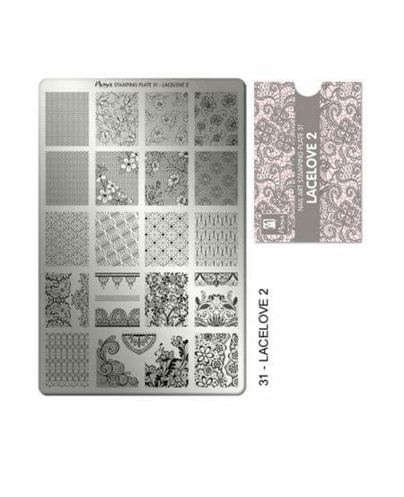 Piastra per Stamping LaceLove2 Numero 31 Moyra