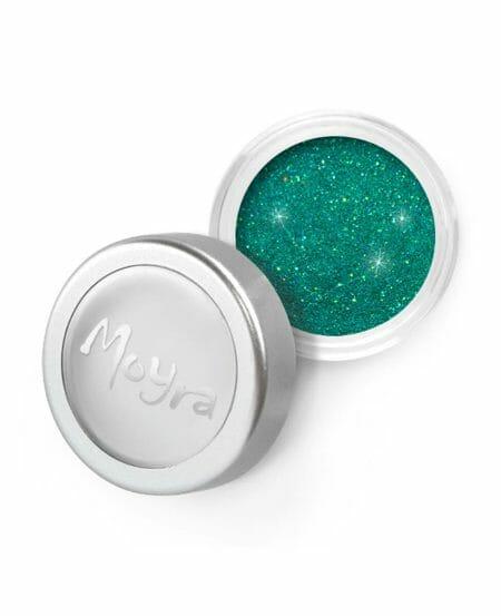 Polvere Glitter Sottile Verde Smeraldo Moyra