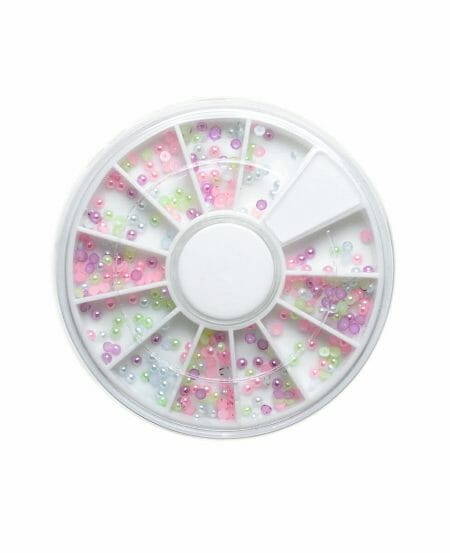 Ruota con Mezze Perle Mix - Colori Pastello