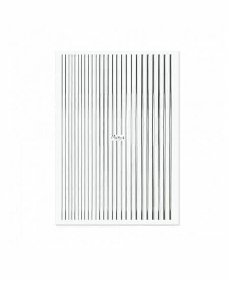 Moyra® Nail Art Strips (strisce adesive) - N.02 SILVER