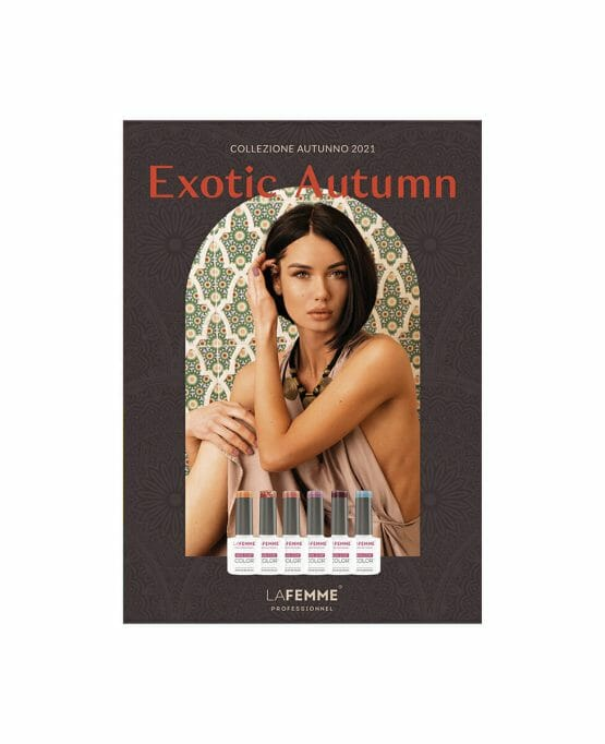 Poster La Femme Collezione Autunno 202 Smalti Semipermanenti Exotic Autumn