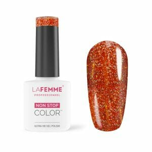 Exotic Glow Sermipermanente Smalto Arancio Scuro Glitter La Femme 285