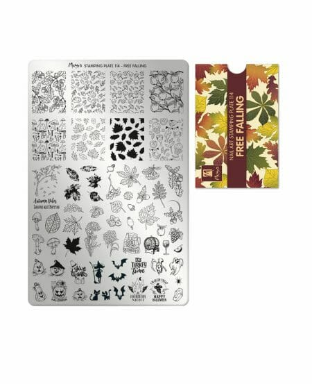 Piastra Stamping Moyra® 114 - Free Falling - 9,5cm x 14,5cm